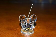 Swarovski Crystal Small Mouse Variation 2 Tail Up 7631 NR 030 Retired