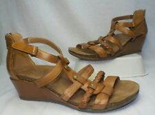 NEW Earth Origins KENDALL Womens Leather Wedge Sandals Shoes TAN Size 9.5  2014S
