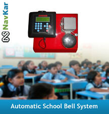 NAVKAR Automatic School Bell Timer System with 9 inches Gong Bell