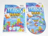 Tetris Party Deluxe Nintendo Wii Game Complete 2010 Nice