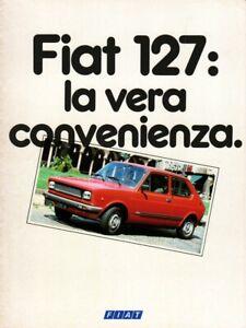 Depliant FIAT AUTO 127 -Pubblicità Auto Anni 70-Utilitarie 128,131,Ritmo,Fiorino