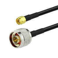 "N Plug Male to SMA Plug Jumper pigtail Cable RG58 50cm 20"" for Wireless Antenna"