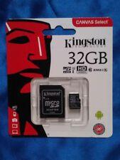 New Kingston Class 10 Memory Card 80MB/s Read 32GB micro SDHC / SDXC
