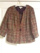 NWT COLDWATER CREEK Colorful Tweed Jacket Size 10 Misses
