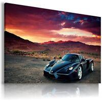 FERRARI ENZO DARK BLUE Sport Cars Wall Art Canvas Picture AU215 MATAGA