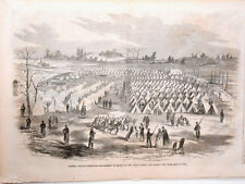 Harper's Weekly Page Civil War Gen Banks Expedition Camp on Long Island NY 1862