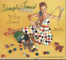 SIMPLE TIMES Amy Sedaris NEW Audio Book CDs Crafts HUMOR Dinello FUNNY Sealed