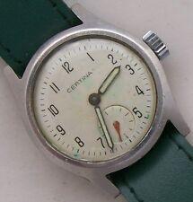 Certina Military wristwatch acier staybrite case load manual original dial 28 mm