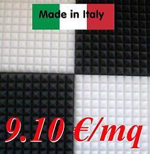 10 mq pannelli fonoassorbenti 100x100x3cm IGNIFUGHI NERI resistenti fuoco stock