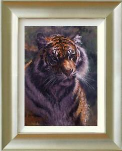 ROLF HARRIS 'TIGER IN THE SUN' FRAMED CANVAS ON BOARD SALE