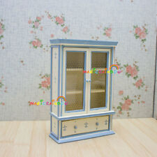 Armoire Wardrobe Cabinet Cupboard Drawer Handmade Wood Dollhouse Miniatures 1:12