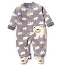 Unisex Baby Infant Baby Polar Bear Fleece gray Pajama set boys 6 months