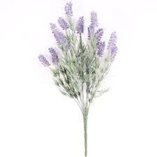 Lavender Plant Artificial 14 Stem 48cm Green Purple