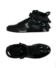 BUSCEMI 100MM Men's Black/Black Patent Leather Sneaker/Boots US 10, UK 9, EU 43