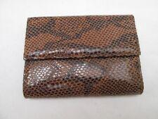 Joli portefeuille - porte monnaie PITONE imitation cuir reptile vintage /