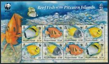 2010 PITCAIRN ISLAND WWF REEF FISH MINISHEET FINE MINT MNH