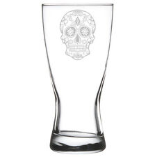 Beer Glass Pilsner Stein Mug 15oz Sugar Candy Skull