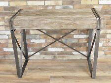 INDUSTRIAL RECLAIMED RUSTIC WOOD METAL IRON CONSOLE TABLE (DX4568)