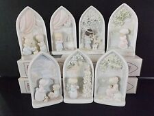 Precious Moments ~ Complete BEATITUDES Set of 7 ~ CHAPEL EXCLUSIVE - MIB HTF