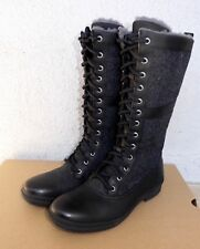 UGG ELVIA BLACK WATERPROOF RAIN TALL SHEARLING BOOTS 9.5US MSRP $250 NIB