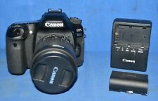 Canon EOS 80D 24.2MP Digital SLR Camera With EFS 18-55mm Lens And Charger