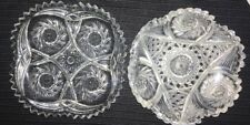 Two Assorted ABP American Brilliant Period Cut Glass Small Plates