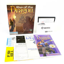 """Rise of the Dragon for IBM PC 5.25"""" by Sierra On-Line in Big Box, 1990, VGC, CIB"""