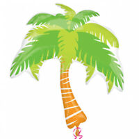 Hawaiian Tropical Summer Palm Tree Supershape Foil Balloon Party Decoration