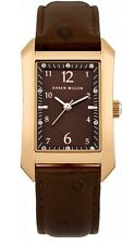 KAREN MILLEN Rose Gold & Brown Leather Watch - KM104TG