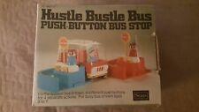 Vintage Toy Sears Hustle Bustle Bus Push-Button Bus Stop Complete Rare