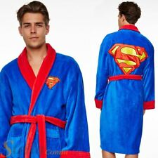 Dc Comic Superman unisex Adult Fleece Dressing Gown Bathrobe |