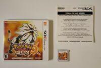 Pokemon Sun (Nintendo 3DS, 2016) Tested.