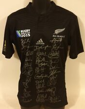 New Zealand All Blacks 2015 RWC Champions Squad Signed Jersey