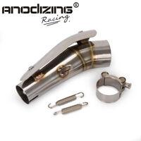 ANODIZING Exhaust Pipe Link Pipe Slip-On For Kawasaki Ninja 250R Ninja250 08-12