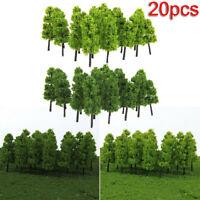 20x Miniature Pine Trees Model Train Garden Park Wargame Scenery Layout Diorama