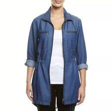 💥 SPORTSCRAFT Blue Denim Lyocell Long Zip Shirt Tunic Dress