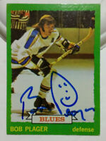 Bob Plager Autographed Signed Hockey Card St. Louis Blues NHL
