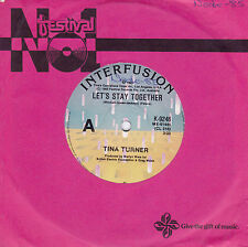 TINA TURNER Let's Stay Together / I Wrote a Letter 45