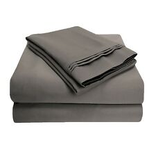 LuxorStyle 100% Egyptian Cotton 650Tc Sheet ~ King/Cal King Flat Only ~ Gray New