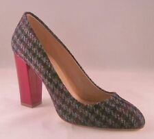 J Crew Stella Houndstooth Pumps - 7 - Olive Amber Multi with Defect