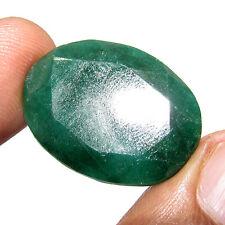 39.45Ct. Natural Awesome Oval Cut Gemstone Brazilian Emerald / Panna Gem-CH 6125