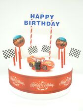Cake Topper Figure Birthday - DISNEY CARS Lightning McQueen - Decoration Set