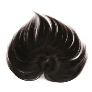 Short Straight Human Hair Topper Clip in Hair Top Piece Toupee for Women Loss Ha