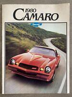 1980 Chevrolet Camaro original Canadian sales brochure (stamp & writing)