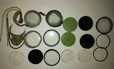 Vintage Lot Of Welders Goggle Round Lens Clear Green Tempered 2 Safety Glasses