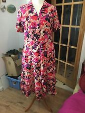 Collar Floral Plus Size Shirt Dresses for Women