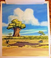 Lion King original book cover art Rafiki's Quiz * Disney cel background Simba