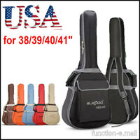 "Waterproof Folk Acoustic Guitar Gig Bag Case Strap Padded for 38/39/40/41"" USA"