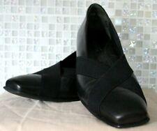 Kumpfs Womens Black EU38.5 AU8.5 Heel Elastic X Strap Comfort Orthotic Shoes