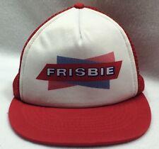 Vintage Frisbie Frisbee Kap II Snapback Hat Red Trucker Cap Adjustable